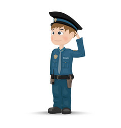 policeman cartoon character template vector image