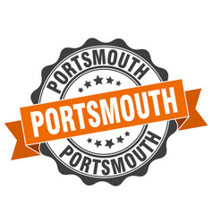 portsmouth round ribbon seal vector image