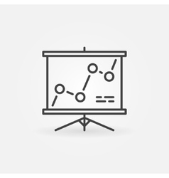 Presentation board linear icon vector