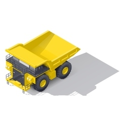 Quarry tipper truck isometric icon vector