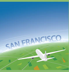 san francisco flight destination vector image vector image