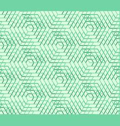 Seamless geometric pattern hexagon abstract vector