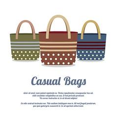 Set of Casual Handbags vector