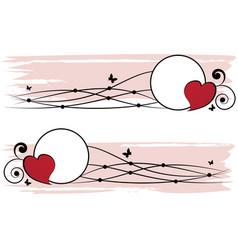 Set of valentine frames vector