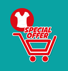 Shopping design marketing icon isolated vector