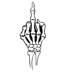 Skeleton shows middle finger vector