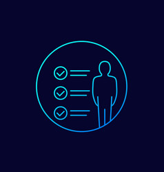 Skills requirements icon linear vector