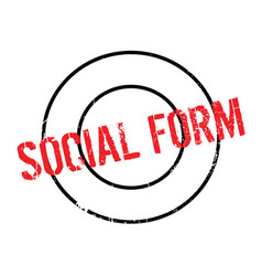 Social form rubber stamp vector