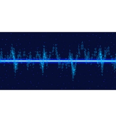 Sound waves oscillating glow vector image