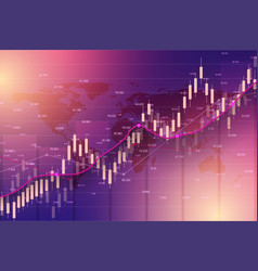 Stock market or forex trading graph chart suitable vector