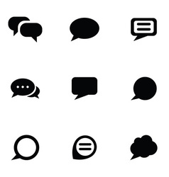 think bubble icons set vector image
