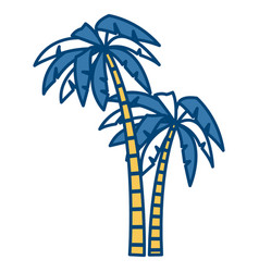 Tree palms isolated vector