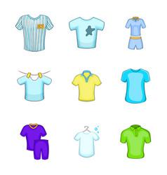 tshirt icon set cartoon style vector image