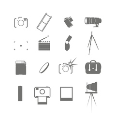 Video and photo icon set vector