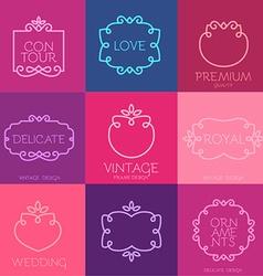Vintage Frame Template Set vector image