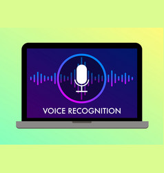 Voice recognition search speech detect icon vector