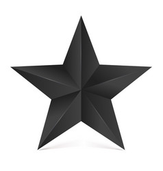 Volumetric five-pointed star with shadow icon of vector