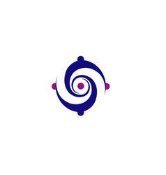 vortex circle logo vector image