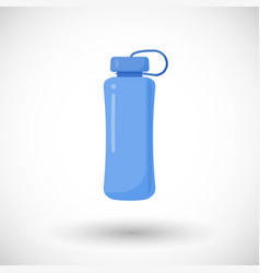 Water bottle flat icon vector