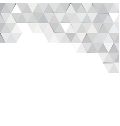 white paper texture geometric gray triangle vector image