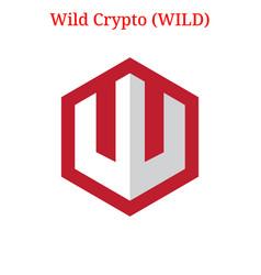 Wild crypto wild logo vector