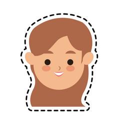 Woman cute cartoon icon image vector