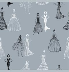 Women in evening gowns vector