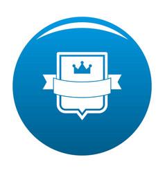 badge emperor icon blue vector image vector image