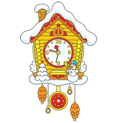 Christmas cuckoo-clock vector