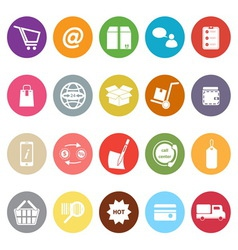 Ecommerce flat icons on white background vector image vector image