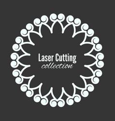 laser flower cut the template frame floral vector image vector image