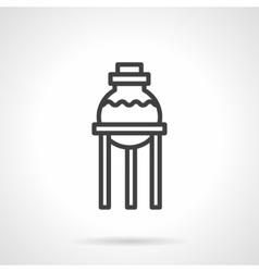 Pharmacy laboratory simple line icon vector image