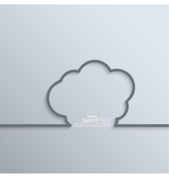 Ribbon as a cloud shadow and space for text vector image