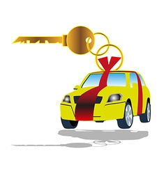 Sell car key vector image vector image