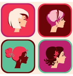 woman icons vector image