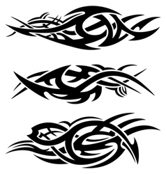 abstract tribal flames vector image vector image