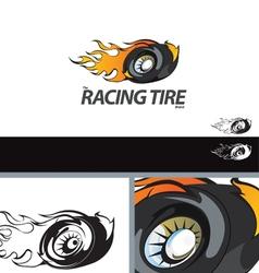 Auto Tire Swoosh Abstract Symbol Branding Design E vector image