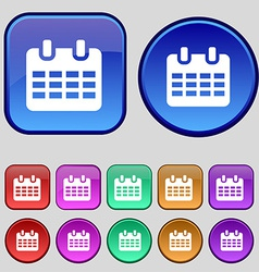 Calendar Date or event reminder icon sign A set of vector image