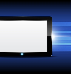 Tablet computer with shiny background vector image