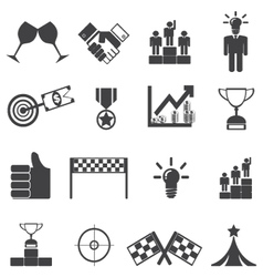 Business success leadership and win vector image vector image