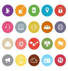 Communication flat icons on white background vector image vector image