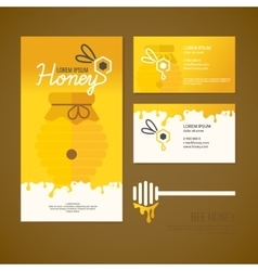 Company style for honey vector image