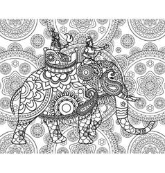 Doodle indian maharajah vector
