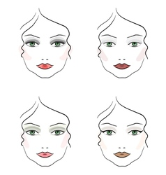 Evening make up vector image vector image