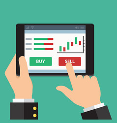mobile foreign exchange trading flat design vector image vector image