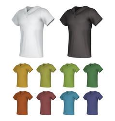 plain male polo shirt template set vector image