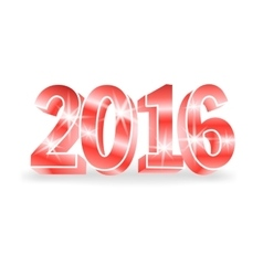 red 2016 numbers vector image vector image