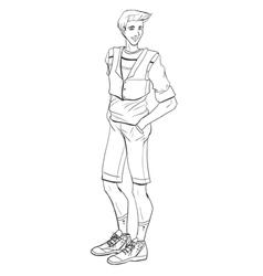 Sporty man vector image vector image