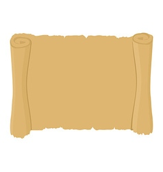 Ancient scroll clean Old blank parchment Retro vector image vector image