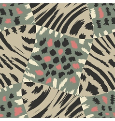 animal fur patchwork print template vector image vector image